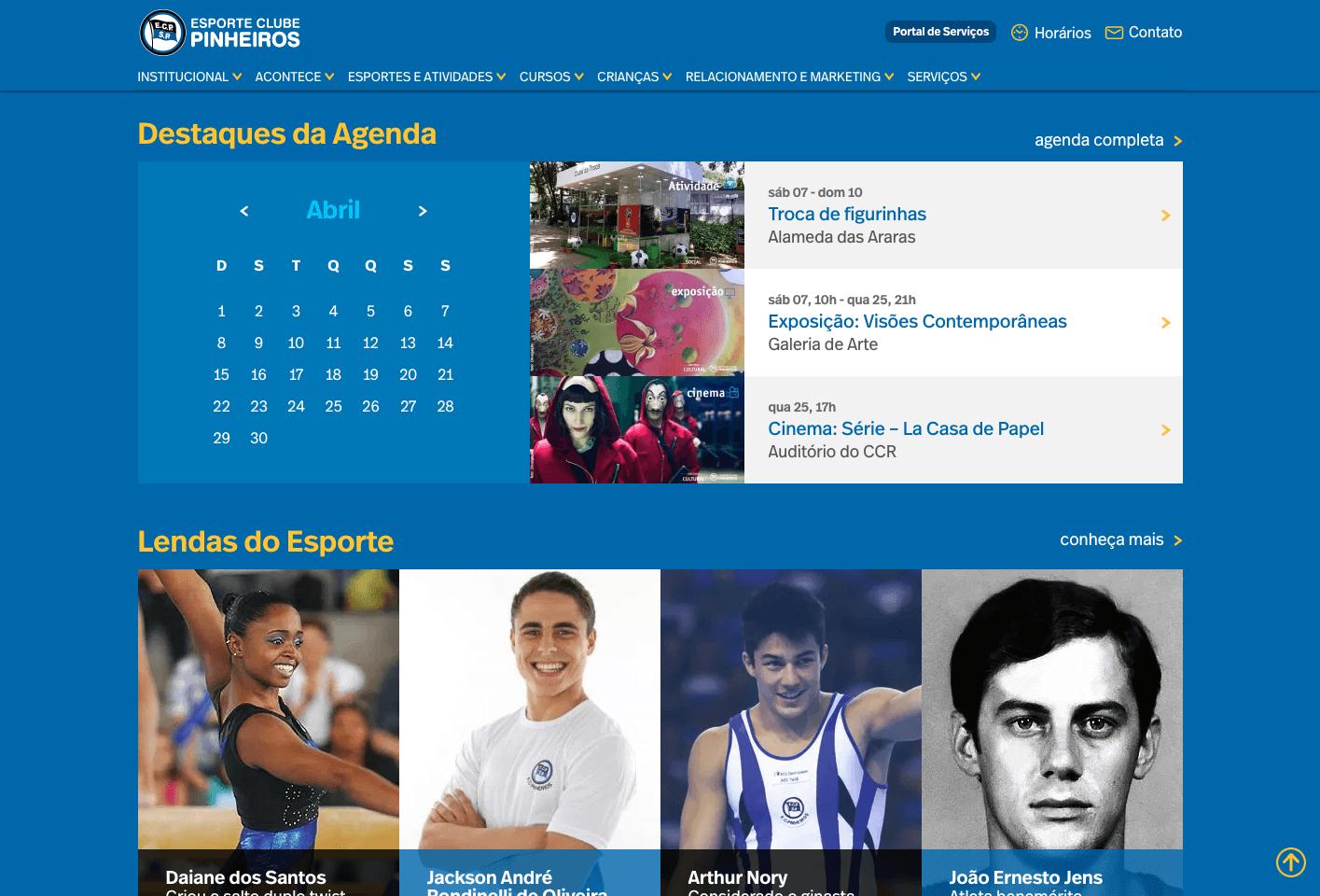 Site Clube Pinheiros - by Castwork.com